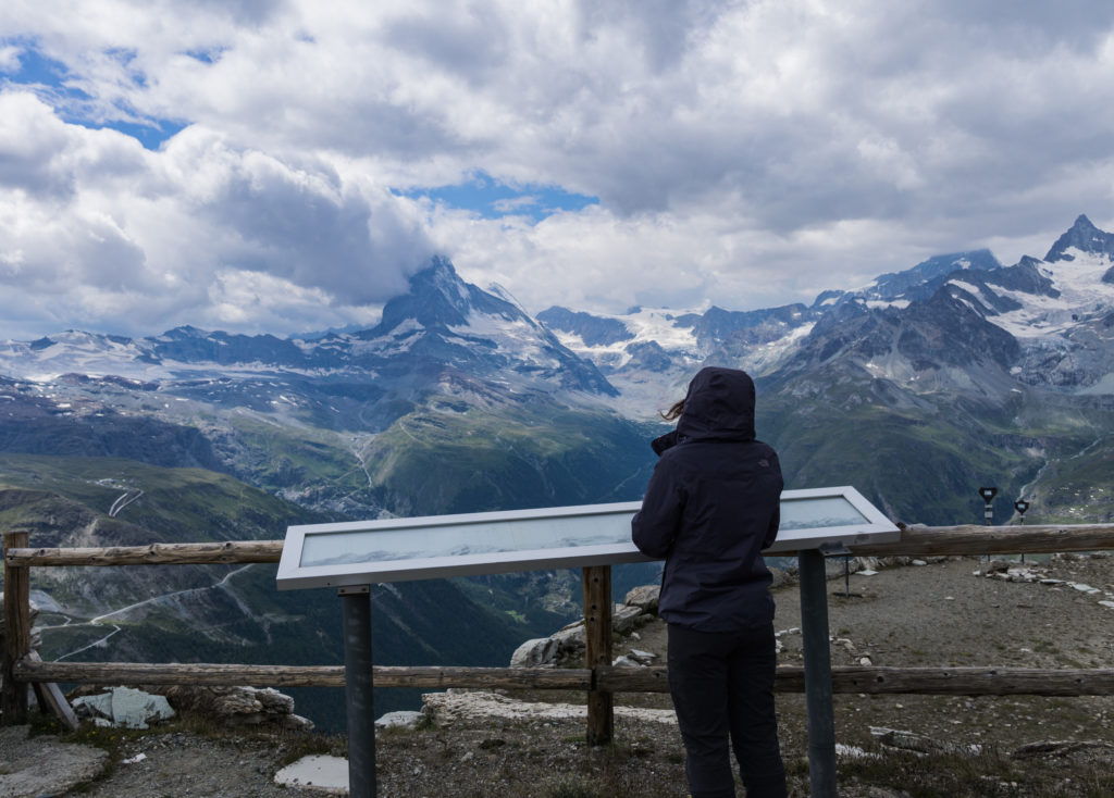 Blick vom Unterrothorn auf das Matterhorn.