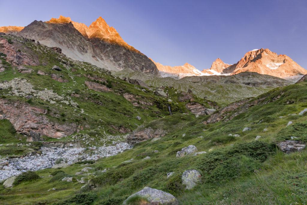 Alpenglühen zum Sonnenaufgang